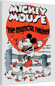 Stampa su Tela  Mickey Mouse - The Musical Farmer