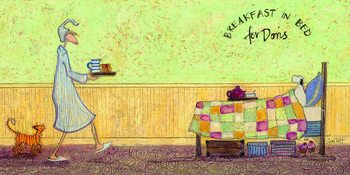 Stampa su Tela  Sam Toft - Breakfast in bed for Doris
