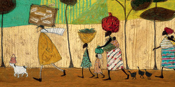Stampa su Tela Sam Toft - Doris helps out on the trip to Mzuzu