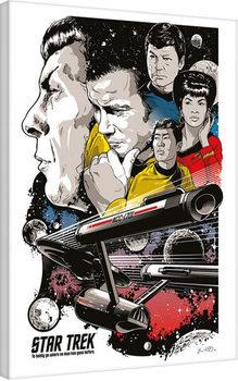 Stampa su Tela Star Trek: Boldly Go - 50th Anniversary