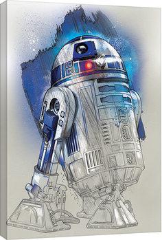 Stampa su Tela  Star Wars: Gli ultimi Jedi- R2-D2 Brushstroke