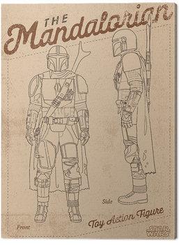 Stampa su Tela Star Wars: The Mandalorian - Action Figure