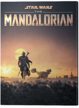 Stampa su Tela Star Wars: The Mandalorian - Dusk