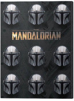 Stampa su Tela Star Wars: The Mandalorian - Helmets