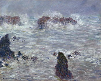 Stampa su Tela Storm, off the Coast of Belle-Ile, 1886