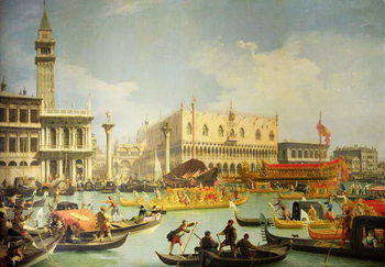 Stampa su Tela The Betrothal of the Venetian Doge to the Adriatic Sea, c.1739-30