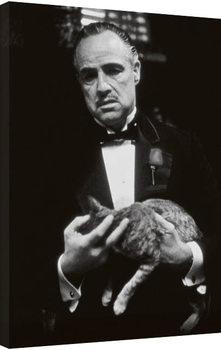 Stampa su Tela The Godfather - cat (B&W)