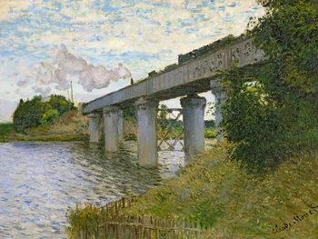 Stampa su Tela The Railway Bridge at Argenteuil, 1874