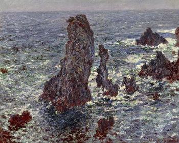 Stampa su Tela The Rocks at Belle-Ile, 1886