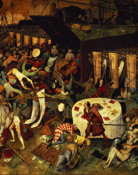 Stampa su Tela The Triumph of Death, detail of the lower right section, 1562