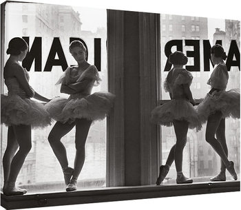 Stampa su Tela  Time Life - Ballet Dancers in Window