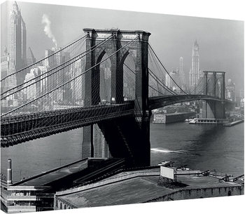 Stampa su Tela  Time Life - Brooklyn Bridge, New York 1946