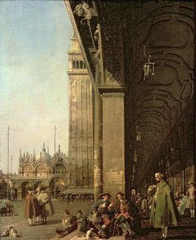 Stampa su Tela Venice: Piazza di San Marco and the Colonnade of the Procuratie Nuove, c.1756