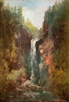 Stampa su Tela  Waterfall (also known as the La Chute de Conches), 1873
