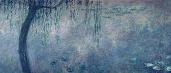 Stampa su Tela  Waterlilies: Two Weeping Willows, left section, c.1915-26 (oil on canvas)