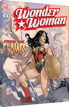 Stampa su Tela  Wonder Woman - From The Flames