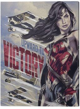 Stampa su Tela Wonder Woman - Upward To Victory