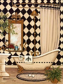 Elegant Bath I - Stampe d'arte