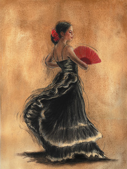 FLAMENCO DANCER II - Stampe d'arte