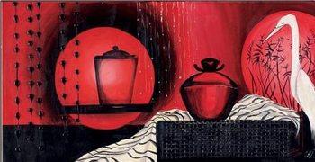 Luna rossa - Stampe d'arte