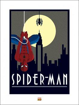 Marvel Deco - Spider-Man Hanging - Stampe d'arte