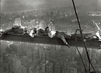 New York - Radio city workers - Stampe d'arte