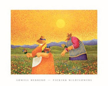Picking Wildflowers - Stampe d'arte