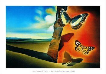 Stampe d'arte Salvador Dali - Paysage Aux Papillons