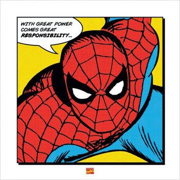 Spider-Man - With Great Power Stampe