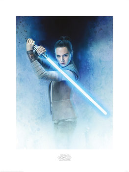 Star Wars: Gli ultimi Jedi - Rey Lightsaber Guard - Stampe d'arte