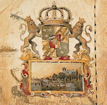 Terra Nova I - s červenou linkou 27 x 27 cm - Stampe d'arte