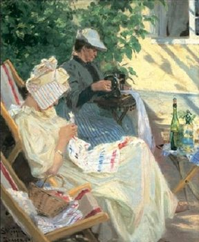 Two women in the garden - Stampe d'arte