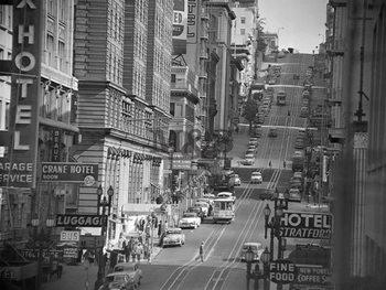 View of Powel Steet in San Francisco 1953 - Stampe d'arte