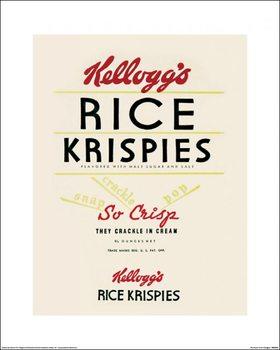 Vintage Kelloggs - Rice Krispies - Stampe d'arte