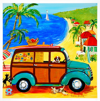 Woody at the Beach - Stampe d'arte
