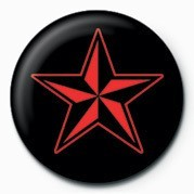 STAR (RED & BLACK) Insignă