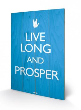 Poster su legno Star Trek - Live Long and Prosper