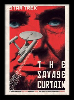 Star Trek - The Savage Curtain üveg keretes plakát