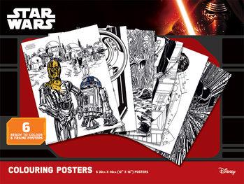 Vyfarbovacie plagát Star Wars - Classic