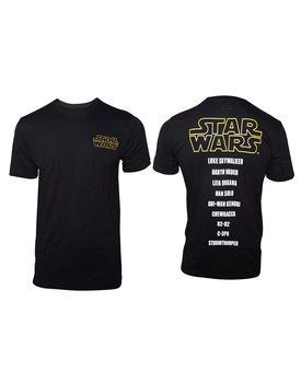 T-Shirt Star Wars - Main Characters List