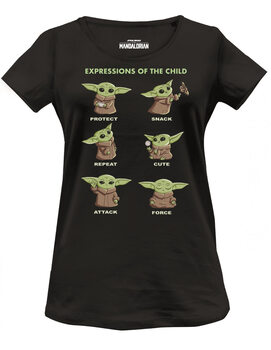 Tricou Star Wars: The Mandalorian - Child Chibi