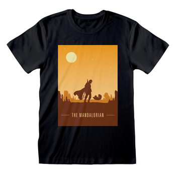 T-Shirt Star Wars: The Mandalorian - Retro Poster