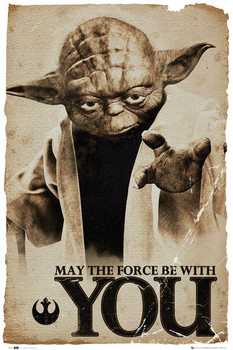 STAR WARS - yoda may the force плакат