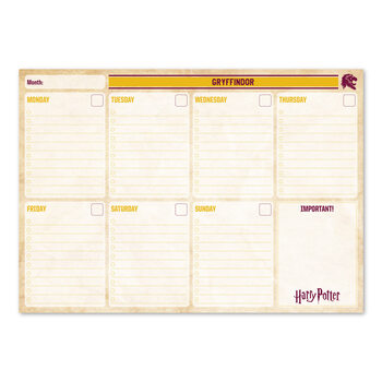 Weekplanner Harry Potter - Gryffindor Stationery