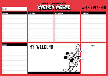 Weekplanner Mickey Mouse Stationery