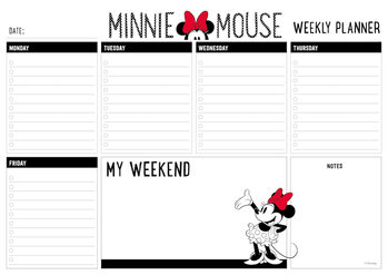 Weekplanner Minnie Mouse Stationery