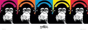Steez - monkey - плакат (poster)