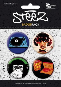 STEEZ - Pack 1 Insignă