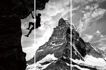 Be Brave - Climb the Mountain Steklena slika