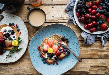 Berry Breakfast Steklena slika